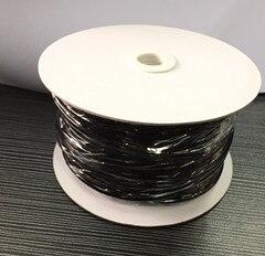 Mini bobine 2.0mm 4000 V gaine en fibre de verre enduite de Silicone noir 50 mètres ignifuge Grade A & C