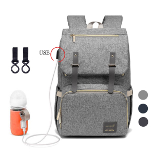 New Fashion Baby Diaper Bag With USB Large Nappy Bag Maternity For Mummy Daddy Waterproof Laptop Travel Backpack Nursing Bags(China)