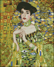 14/16/18/27/28 Top Quality Beautiful Lovely Counted Cross Stitch Kit Elegant lady Woman Girl Beauty Elegance gustav klimt(China)