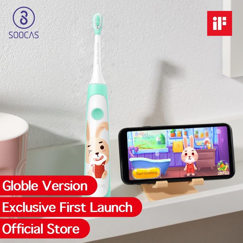 Xiaomi Soocas C1 soocare bebê crianças escova de dentes elétrica sonic ultra sonic escova de dentes elétrica escova de dentes recarregável