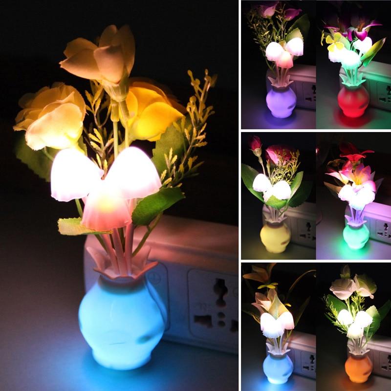 1 Pcs Romantische Led Lily Rose Pilz Licht Sinn Control Nacht Llight Wand Lampe Kreative Schöne 0,2 W Lamparas Nacht Lampe