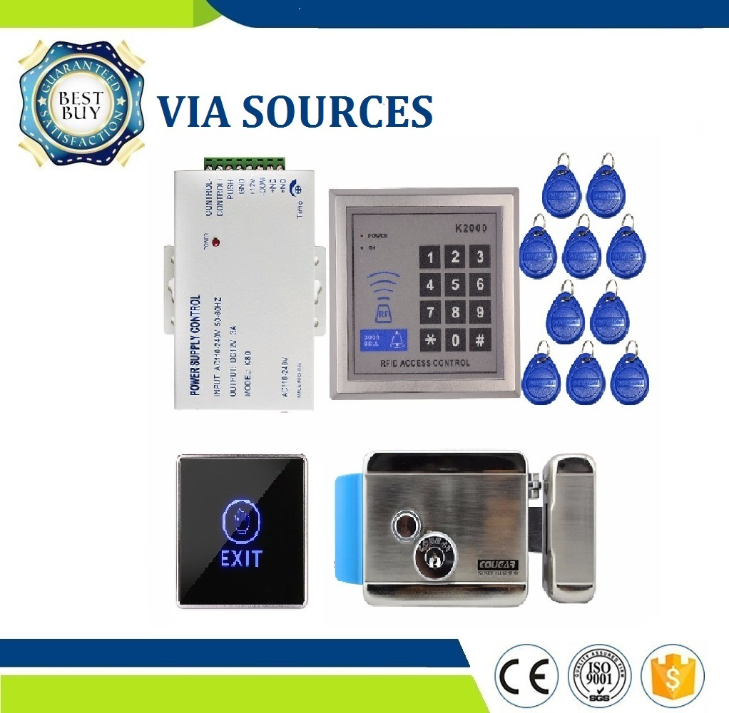 Free Shipping Rfid Door Access Control System Kit Set Electric Control Door Lock with Rfid Keypad Code mileview rfid code keypad door access control system kit set electric drop bolt door lock in stock free shipping