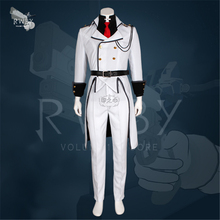 Anime RWBY Season 4 James Ironwood Cosplay Costume Male + Female Full Set Party Suit White Coat+shirt+pants H