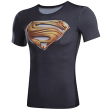 3D Printed T-shirts Superman captain America 3 digital printing compressed t-shirts men Short sleeve  Deadpool iron Man