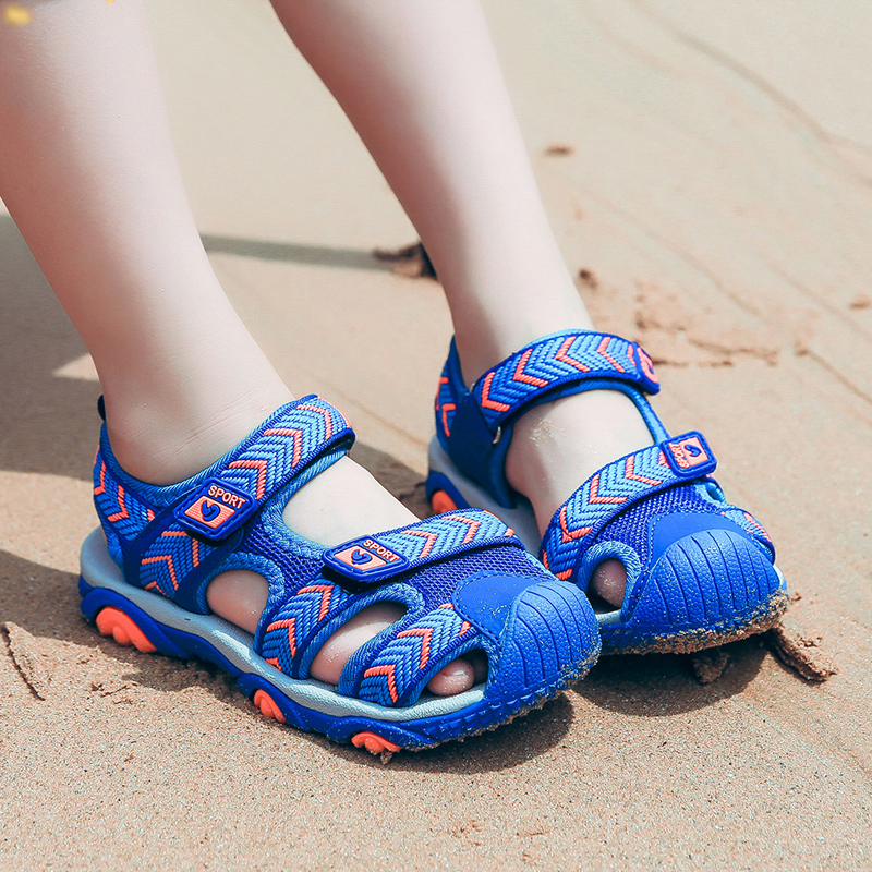 Boys Beach Sandals Childrens Shoes Boys Flat Shoes 2018 Summer New Kids Shoes