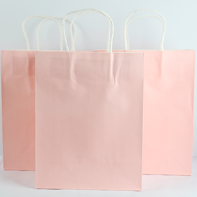 Dedicated Zilue 40pcs/lot Size 27x21x11cm Gift Paper Bags Recyclable Pink Color For Girl Kraft Paper Packaging Shopping Bags Home & Garden Gift Bags & Wrapping Supplies
