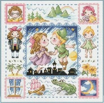 Peter Pan Counted Cross Stitch Pattern Free US Shipping
