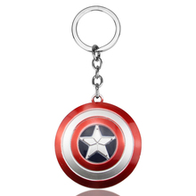 цена Captain America The First Avenger 4 Super Hero Captain America Shield Metal Pendant Key Chain Keychain llaveros Keyring Jewelry онлайн в 2017 году