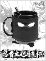 Japan NINJA Mug Cup Anime Cosplay Harajuku Tea Cup Men Women Daily Ceramic Mug Cup+Spoon+Mask Gift