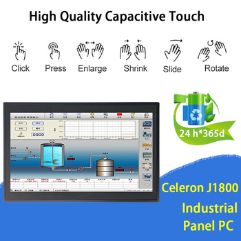 HUNSN 2MM Embedded IP54 Industrial Panel PC Intel J1800 All in One Computer Windows 7/10 3RS232 VGA LAN,[DA10W]