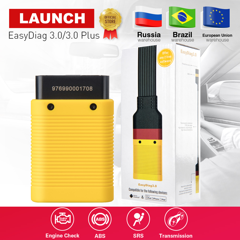 LAUNCH EasyDiag 3.0 obd2 code reader scanner X431 obdii Easydiag 3.0 plus Bluetooth Adapter for Android pk EasyDiag 2.0 CRP123 free shipping launch m diag lite for android ios with built in bluetooth obdii mdiag m diag lite better than x431 idiag easydiag