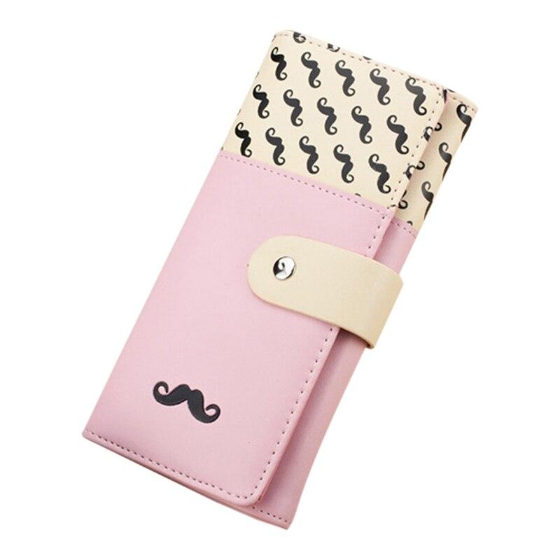 ⑦Texu pu cuero cute bigotes patrón monedero Embragues monedero ...