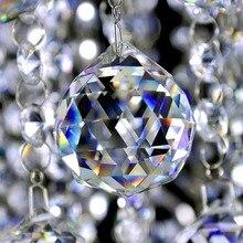 20-50 мм граненый стеклянный шар призма люстра Хрустальные детали подвесной светильник шар Suncatcher свадебное Рождественское украшение для дома
