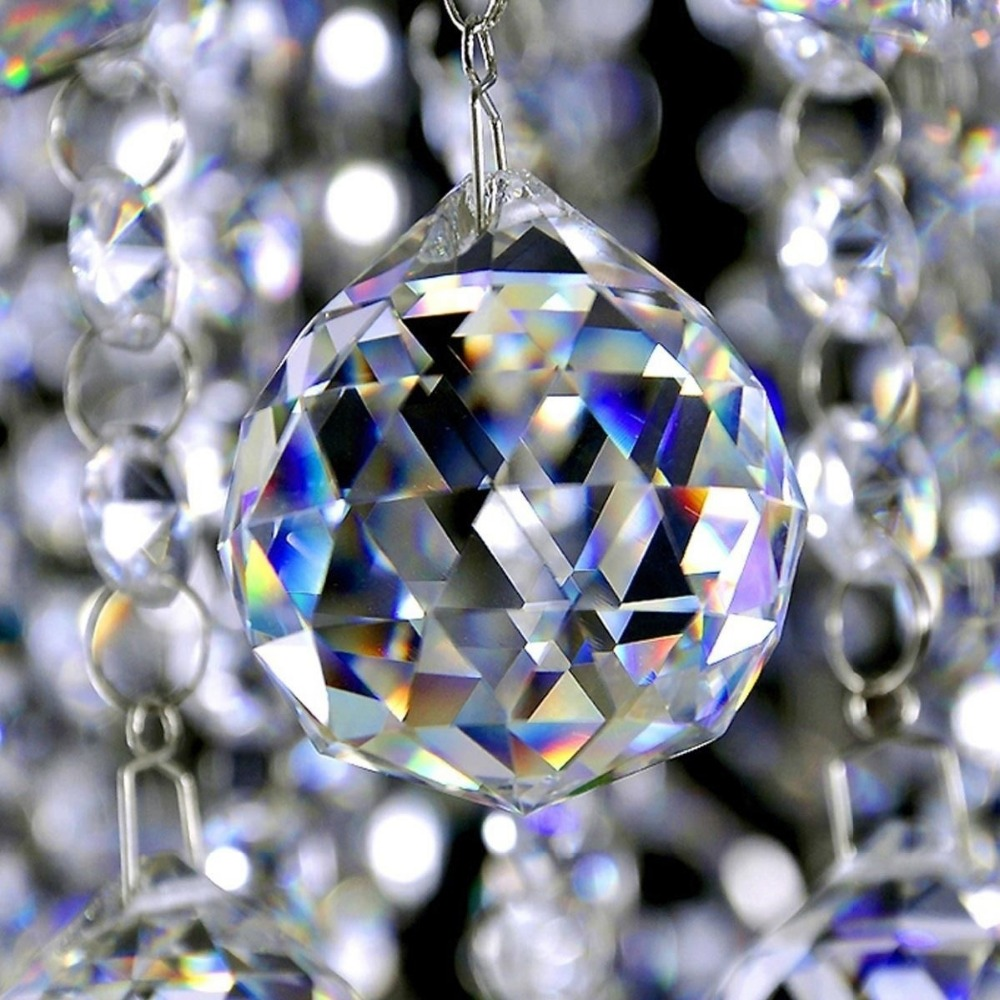 20-50Mm Faceted Glass Ball Prism Chandelier Crystal Elements Hanging Pendant Lighting Ball Suncatcher Wedding ceremony Xmas Residence Decor