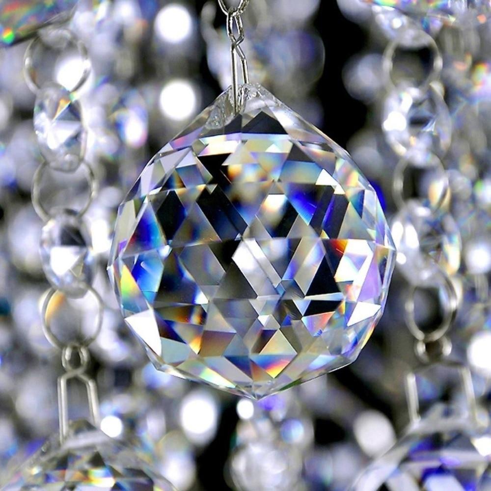 Lustre à prisme pièces en cristal | Boule de verre à facettes, éclairage suspendu en boule, receveur de soleil, décor de maison de mariage et de noël, 20-50mm