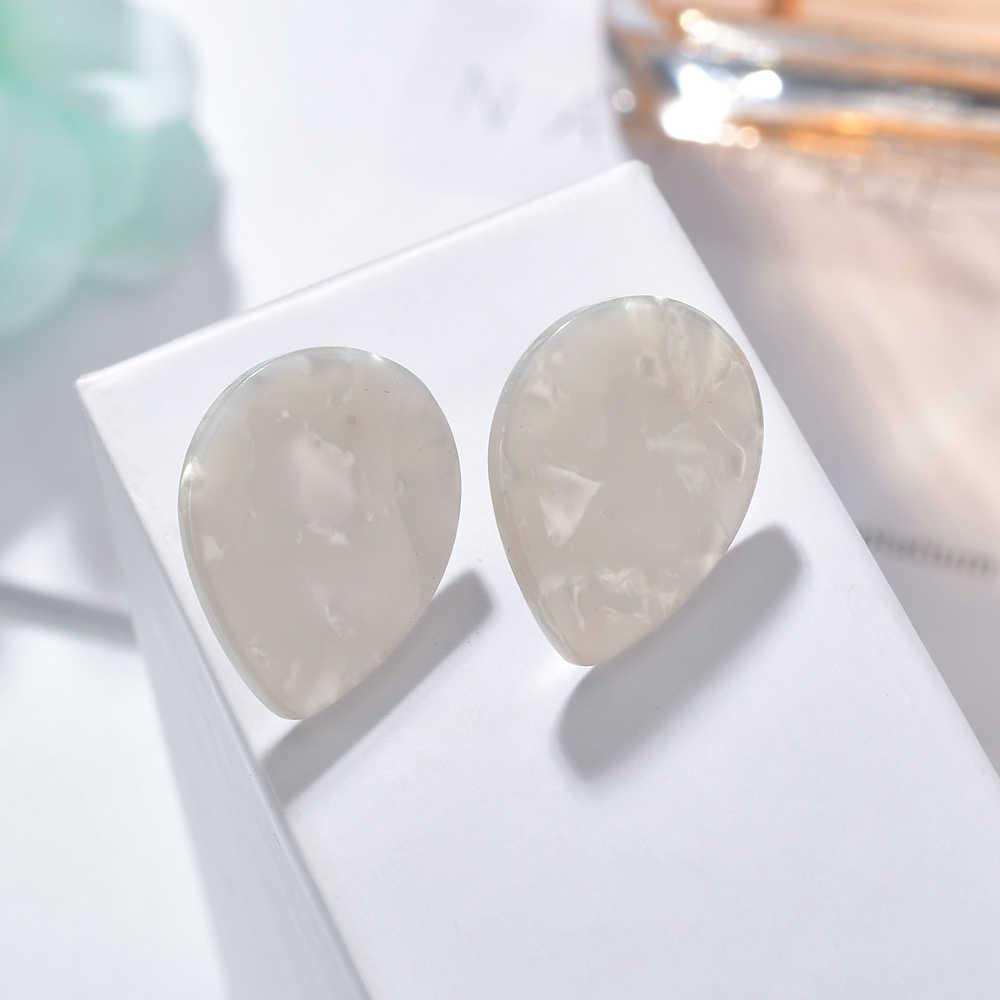 MESTILO 2019 Nhiều Màu Sắc Acrylic Waterdrop Nhỏ Bông tai Nữ Cô Gái Tuyên Bố Nhựa Bông Tai Hoa Mai Phụ Kiện Trang Sức
