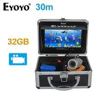 EYOYO Original 7 Full Silver Fish Finder HD 1000TVL 30M Underwater Fishing Camera 32GB Video Recording