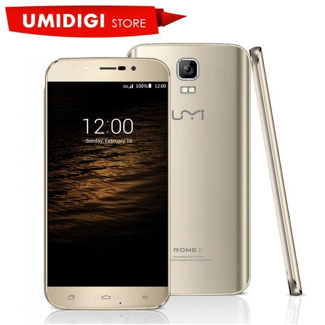 "Umi рим х красивый мобильный телефон 5.5 ""hd android 5.1 леденец mtk6580 quad core 3 г wcdma смартфон dual sim"