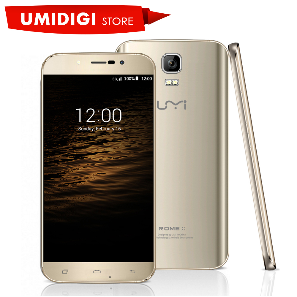 "Umi ROME X  Beautiful Cellphone 5.5"" HD Android 5.1 Lollipop MTK6580 Quad core 3G Wcdma Smartphone Dual Sim"