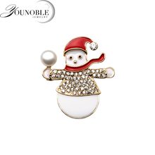 Stylish Pearl Brooches For Women natural freshwater snow Christmas santa claus brooch new year gift