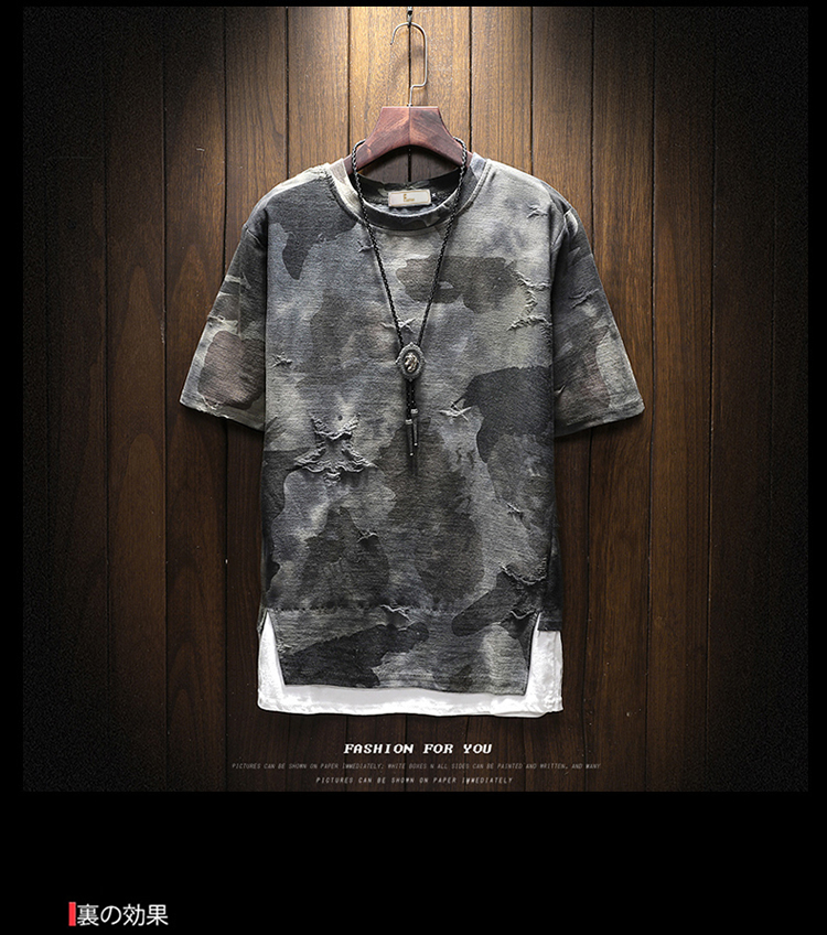 New arrival 2018 summer fashion letter print camouflage short sleeve t shirt for men men's military streetwear t-shirt DTX2 31
