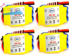 free Shipping 4 Pcs 30A Brushless 450 Helicopter Multicopter Motor Speed Controller RC ESC