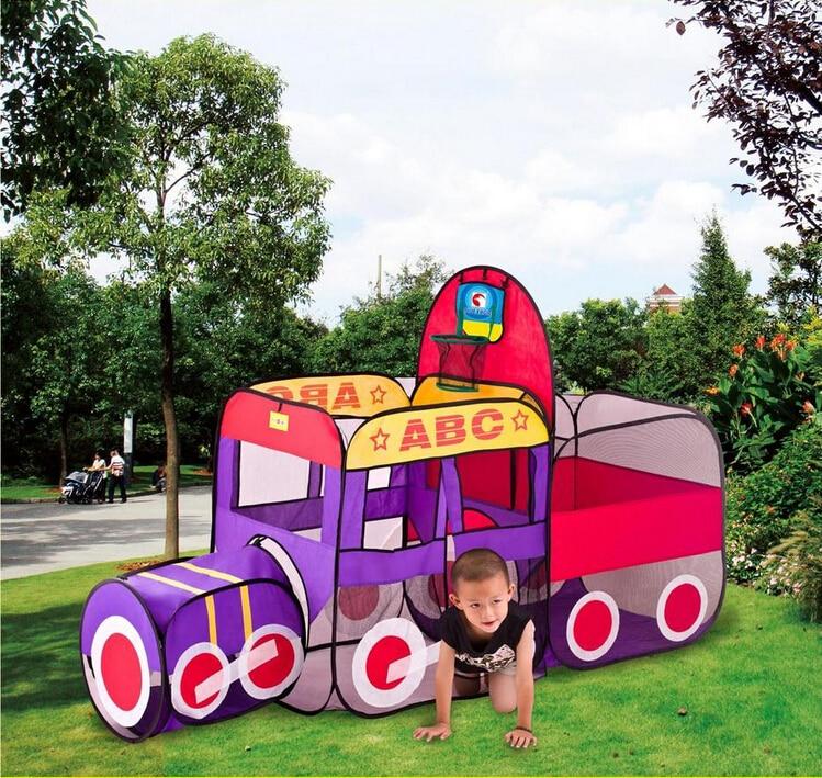 200*76*125cm catoon Basketball Hoop train cloth House tent Ocean ball pool child park picnic holiday game play tent baby toy настольная лампа mantra декоративная akira 0789