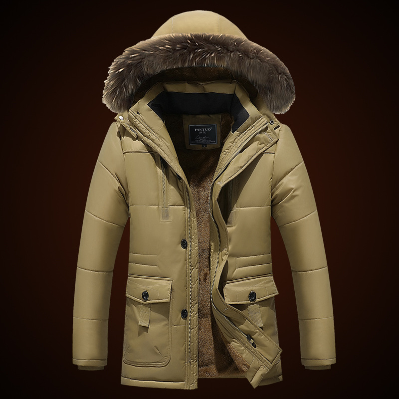 New Down Coat Winter Jacket Men Casual Warm Coat Outerwear Parka Men s Long Coat Plus