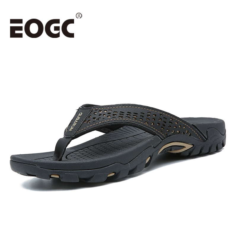 Plus size 39-46 New Arrival Summer Men Flip Flops High Quality Beach Sandals Anti-slip Zapatos Hombre Casual Shoes Drop Shipping(China)