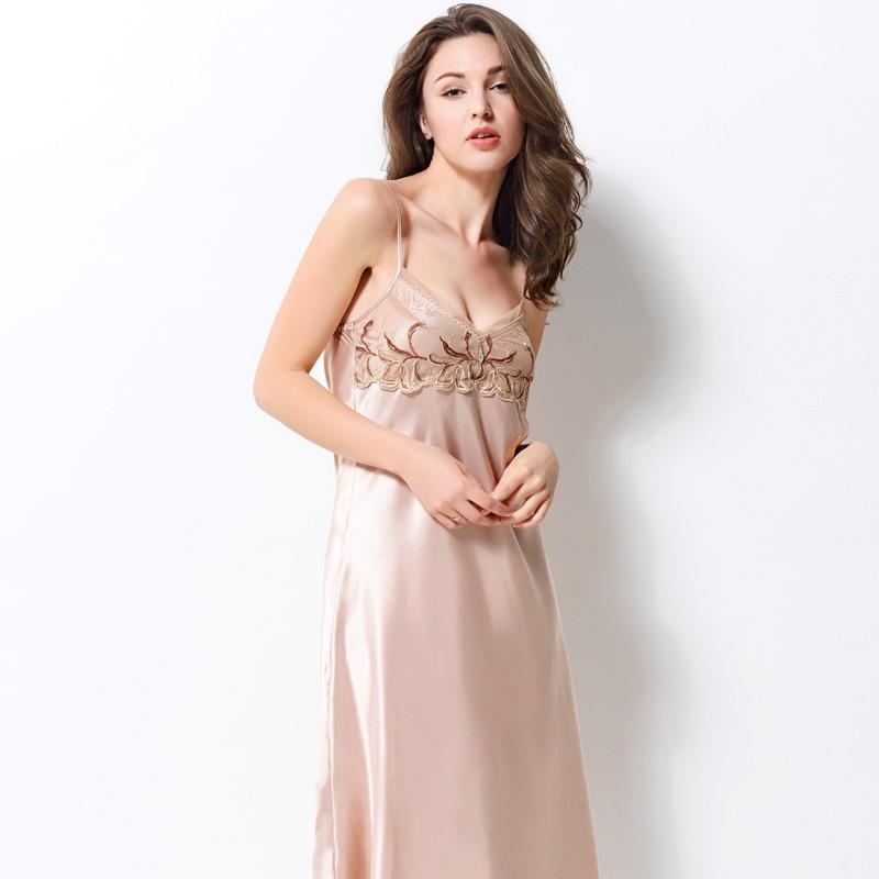 Xifenni Robe Sets Female Sexy Satin Silk Sleepwear Women Gown Set Lace Embroidery Bathrobe Lingerie Sleeping Dress 2703