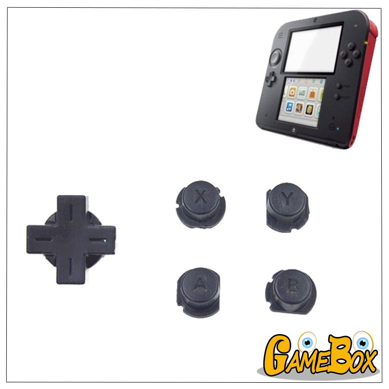 1set/5pcs Original Direction ABXY Button For Nintend 2DS Functional Button Cross Key For 2DS Game Console