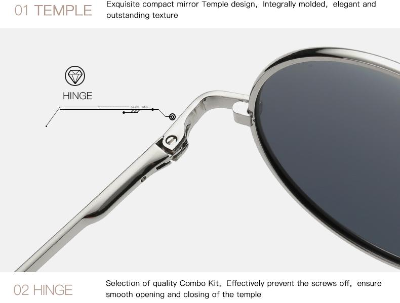 AEVOGUE Polarized Sunglasses For Men/Women نظارات شمسية للرجال وللسيدات بعدسات دائرية بلورايزد 10