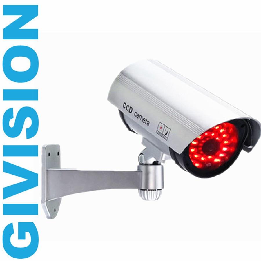 Wireless cctv fake dummy surveillance security camera for Wireless exterior security cameras
