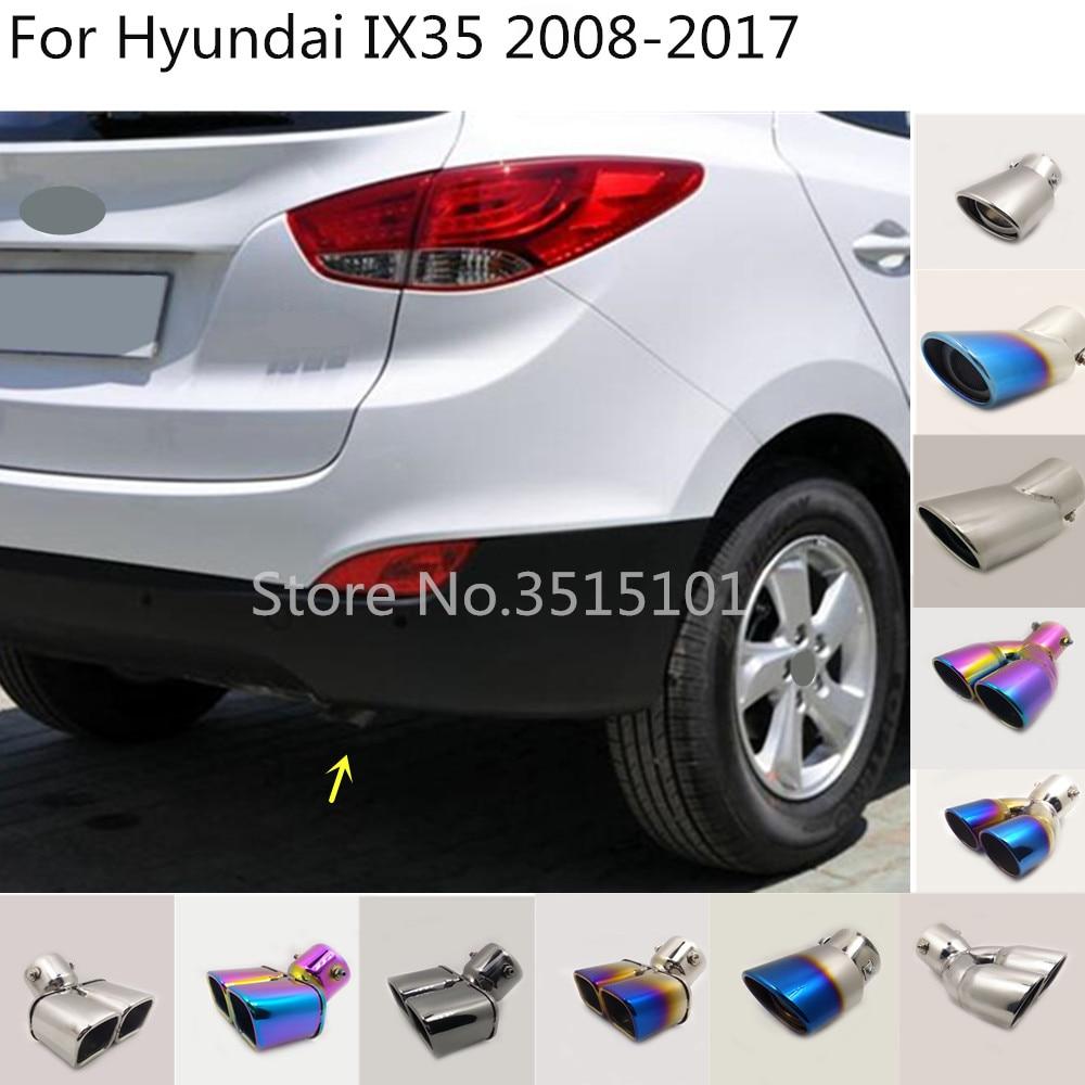 Samochód pokrywa tłumik rury wylotowej poświęcić końcówki wydechowej ogon 1 sztuk dla Hyundai IX35 2008 2009 2010 2011 2012 2013 2014 2015 2016 2017