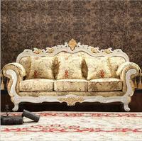 Conjunto de sofá seccional europeo de tela moderna para sala de estar 1067
