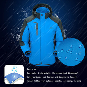 Image 4 - LoClimb Mens Spring/Autumn Outdoor/Hiking Jacket Men Mountain Trekking Windbreaker 5XL Fishing Coat Waterproof Jackets AM163