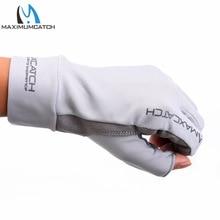 Maximumcatch Fishing Gloves Fly Fishing Anti-UV Sun Protection Half Finger 50+ UPF Outdoor