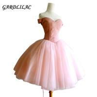 Off The Shoulder Blush Homecoming Dresses 2018 Plus Size Short Prom Dress Beaded Cocktail Wedding Party Dress juniors