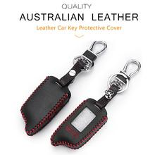 TW9010 Case Keychain Genuine Leather Cover For Tomahawk TW9010 LCD Remote Two-Way Car Alarm High Quality Car Key Case 2 way tw 9010 lcd remote control key fob tamarack silicone case for russian tw 9010 two way car alarm system tomahawk tw9010