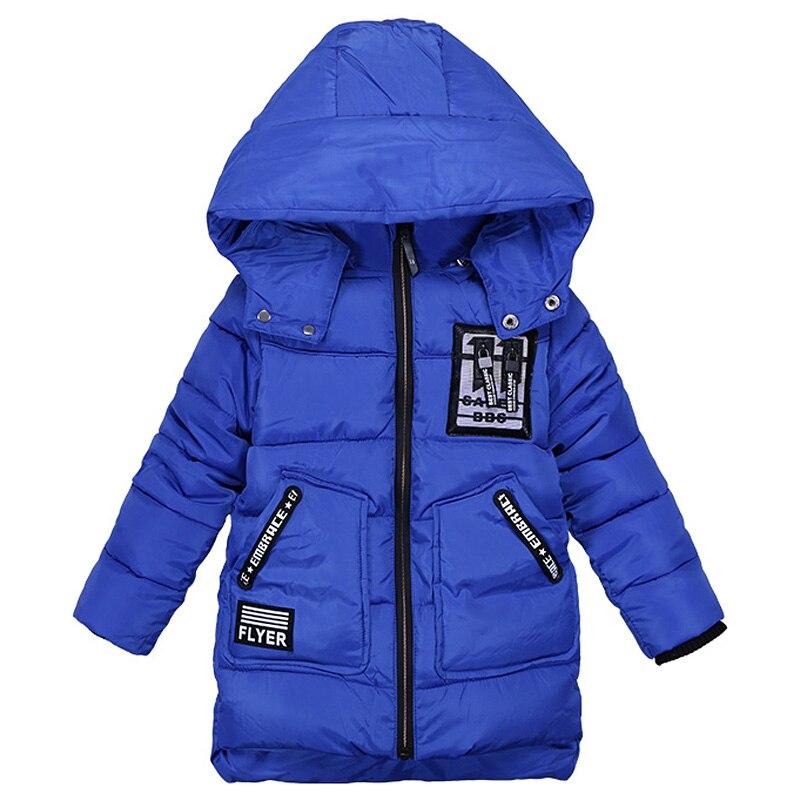 Boys Hoodies Fashion Infant Winter Jackets Zipper Decoration Kids Cotton Padded Outerwear Army Green Boy Overcoat