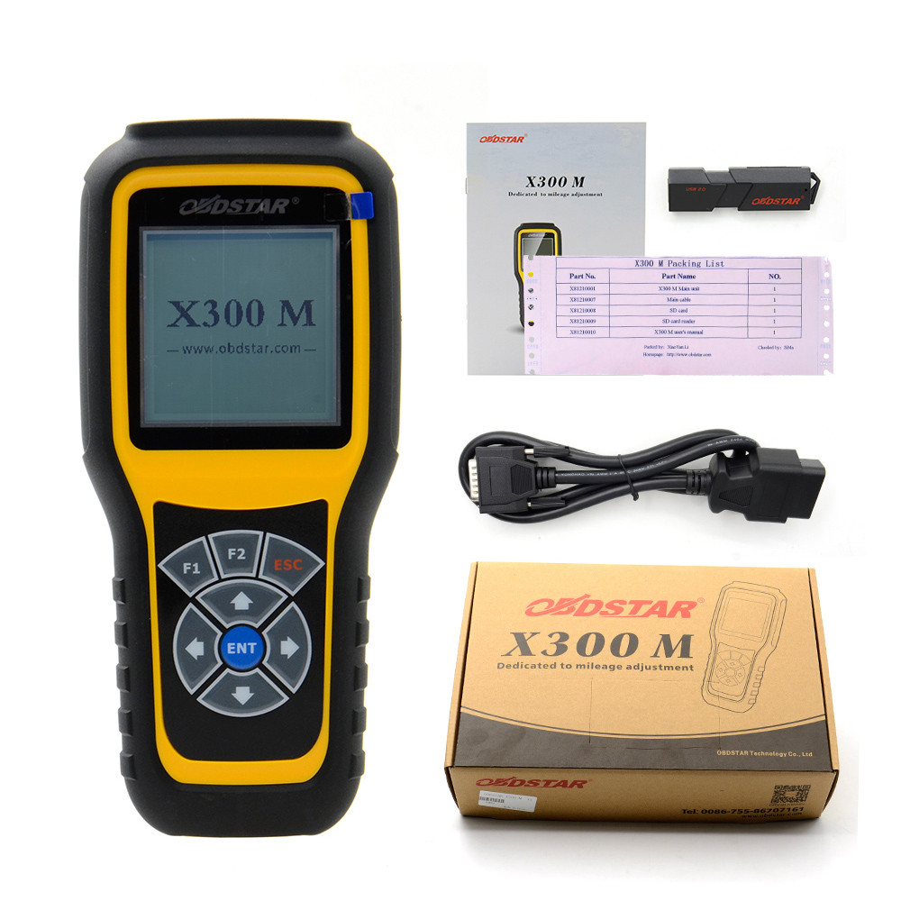 Outil de correction d'odomètre OBDSTAR X300M X300 M spécial pour le réglage de l'odomètre et l'outil de changement d'odomètre OBDII