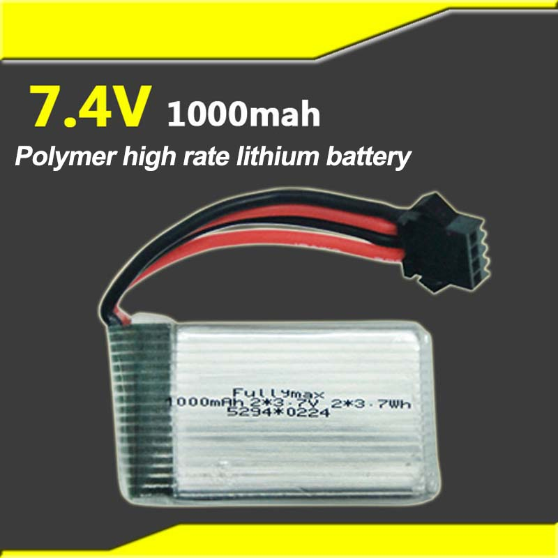 7.4v 1000mah Large Capacity Lithium Polymer High Rate Lithium Battery Youdi 818s Aircraft Suitable Price Remains Stable