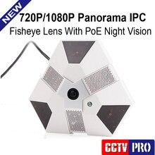 1.0MP Onvif 2-МЕГАПИКСЕЛЬНАЯ Full HD 720 P 1080 P PoE Ночного Видения панорама 360 Градусов Панорамный Fisheye Объектив IP Сетевая Купольная CMOS камера