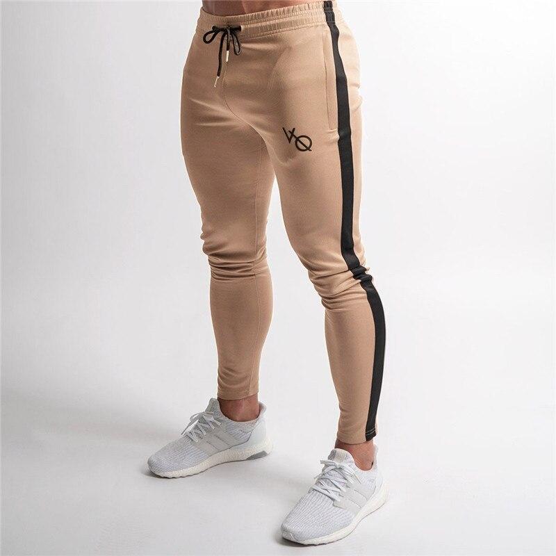 2018 elastizität Mens Joggers Hosen Casual Mode Bodybuilding Jogger Jogginghose Bottom Patchwork Hosen Männer Casual Hosen