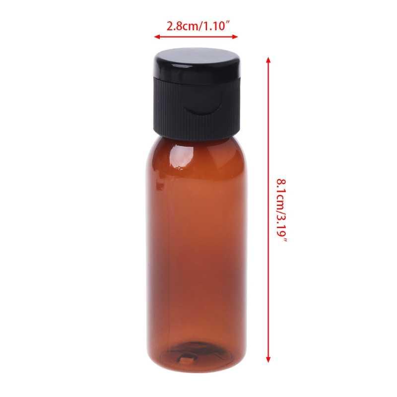 10 ml/30 ml/50 ml viagem vazio tampa da aleta garrafa composição emoliente água perfume recipiente de óleo