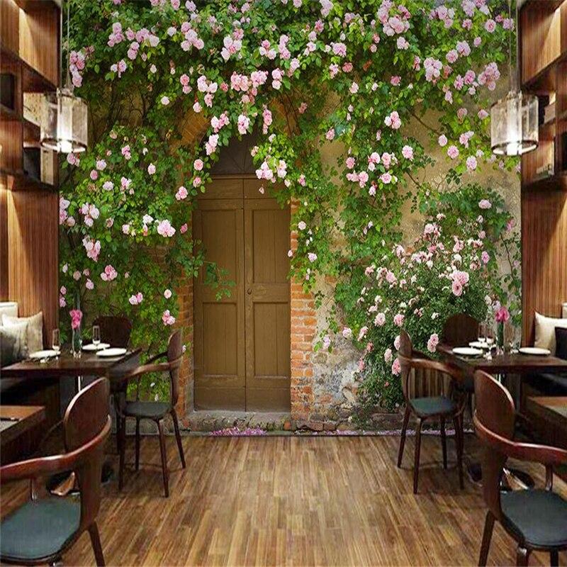 Купить с кэшбэком beibehang papel de parede Custom Fashion Rose Rose Photo Mural Wallpaper 3D Wall Background walpaper tapete 3d rose HD mural