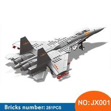 Wange JX001 model building kits city plane 1058 3D blocks Educational model & building toy