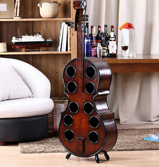 Wooden European wine wine. Guitar wine rack. 10 hole cello wine rack. The tea table the new pink wine rack high end modern soft furnishings personalized pink wine resin crafts big quantity best price