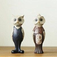 European Retro Creative Owl Home Decor Resin Crafts Ornaments Home Decorations Accessories Living Room Entrancel Room
