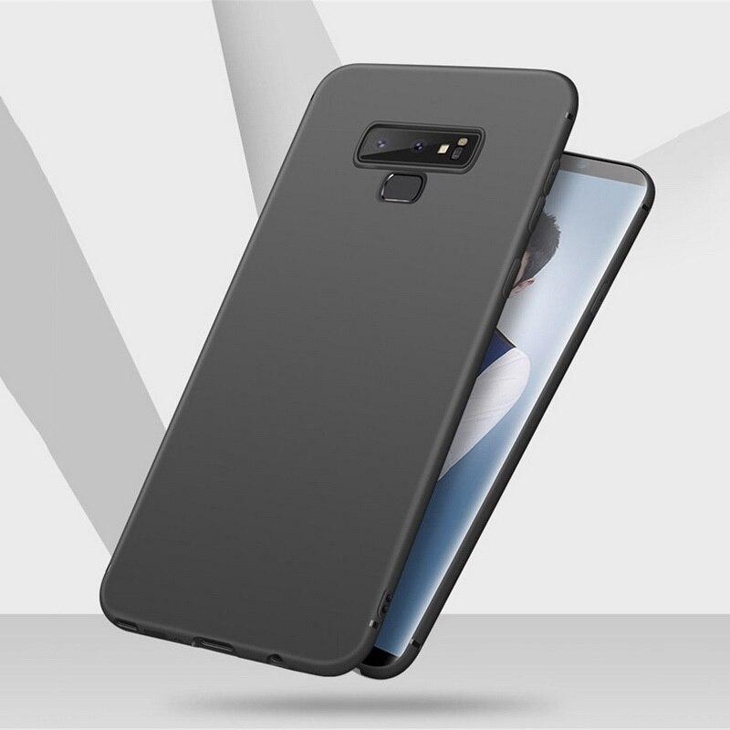 Ultra Slim Matte Phone Samsung Note9 8 S9 S8 Plus Soft TPU Cover For Galaxy S7 S6 Edge Plus A6 A8 Plus  Capa